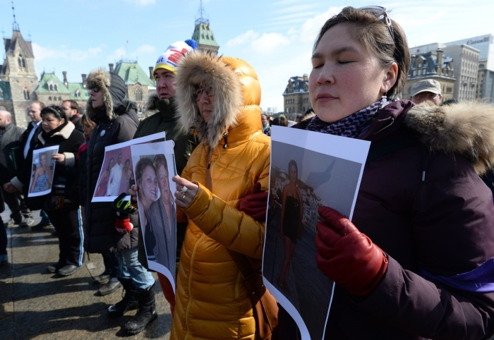 Vigil for Loretta Saunders (Image Credit: Canadian Press)