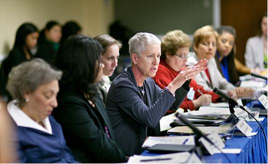 Anne at DOL meeting